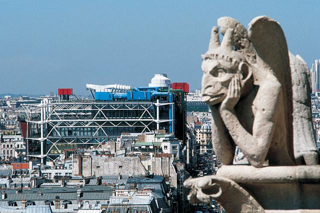 Centro Pompidou  foto di Gianni Berengo Gardin