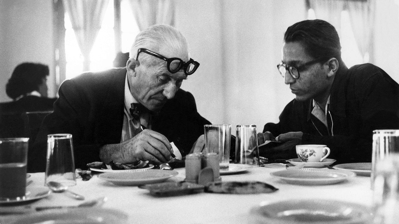 Balkrishna Doshi with Le Corbusier